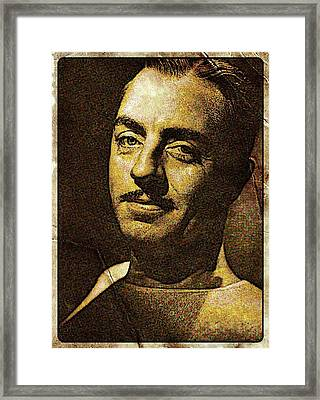 William Powell Hollywood Actor Framed Print by Esoterica Art Agency