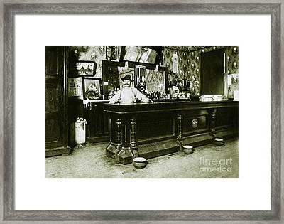 William Schmidt Saloon1908 Framed Print by Jon Neidert