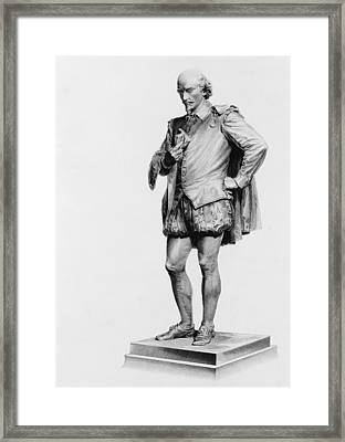 William Shakespeare 1564 To 1616 Framed Print by Vintage Design Pics