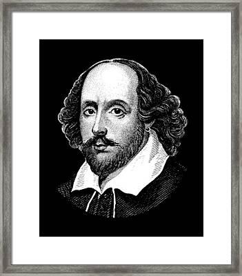 William Shakespeare - The Bard  Framed Print