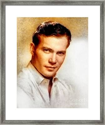 William Shatner, Actor Framed Print by Frank Falcon