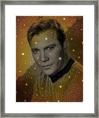 William Shatner As Captain Kirk Framed Print by John Springfield