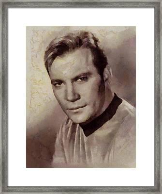 William Shatner Star Trek's Captain Kirk Framed Print by Sarah Kirk