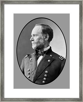 William Tecumseh Sherman Framed Print by War Is Hell Store