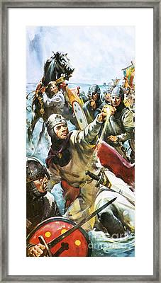 William The Conqueror Arriving In England In 1066 Framed Print