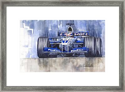 Williams Bmw Fw24 2002 Juan Pablo Montoya Framed Print by Yuriy  Shevchuk