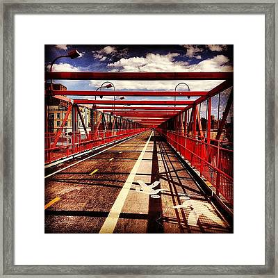 Williamsburg Bridge - New York City Framed Print by Vivienne Gucwa