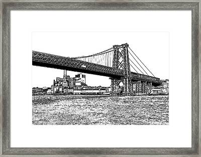 Williamsburg Bridge 1.1 - New York Framed Print by Frank Mari