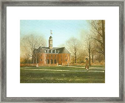 Williamsburg Capital Framed Print by Charles Roy Smith
