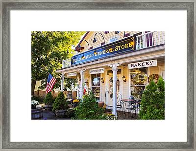 Williamsburg General Store Mass Framed Print