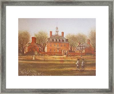 Williamsburg Governors Palace Framed Print by Charles Roy Smith