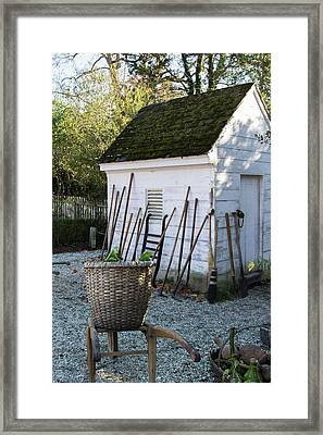 Williamsburg Potting Shed Framed Print