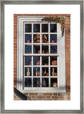Williamsburg Window 35 Framed Print by Teresa Mucha