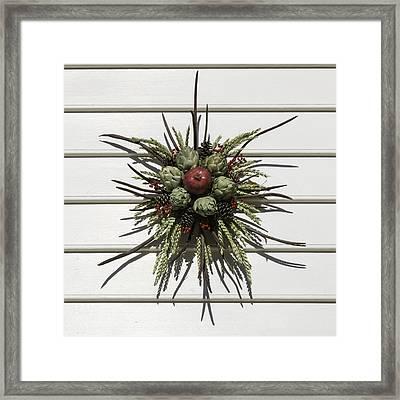 Williamsburg Wreath 19 Framed Print