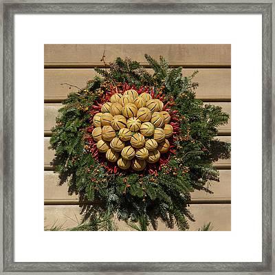 Williamsburg Wreath 46 Framed Print by Teresa Mucha