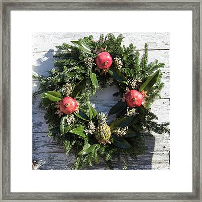 Williamsburg Wreath 70 Framed Print by Teresa Mucha