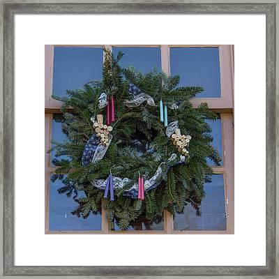 Williamsburg Wreath 74 Framed Print