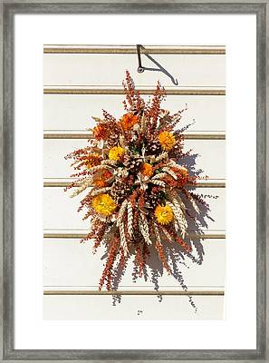 Williamsburg Wreath 84 Framed Print by Teresa Mucha