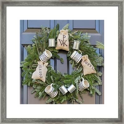 Williamsburg Wreath 94 Framed Print by Teresa Mucha