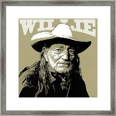 Willie Framed Print by Greg Joens