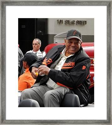 Willie Mays 2012 Framed Print