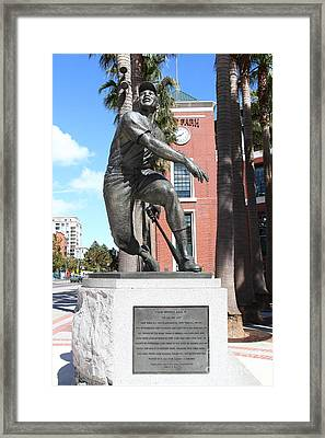 Willie Mays At San Francisco Giants Att Park . 7d7636 Framed Print