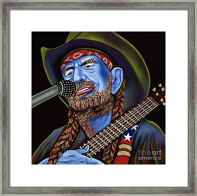 Willie Framed Print by Nannette Harris