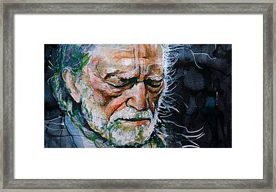 Willie Nelson 7 Framed Print