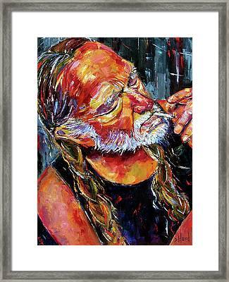 Willie Nelson Booger Red Framed Print