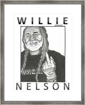 Willie Nelson Framed Print by Jeremy Waters