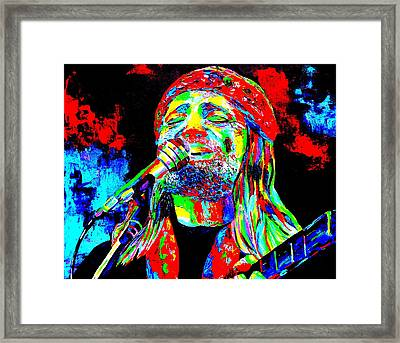 Willie Nelson Framed Print by Mike OBrien