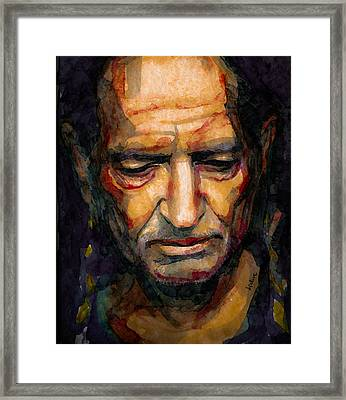 Willie Nelson Portrait 2 Framed Print