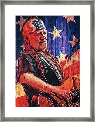 Willie Nelson Framed Print