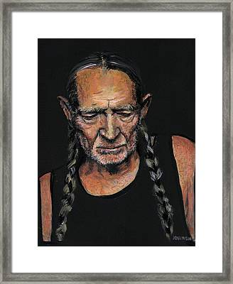 Willie Framed Print by Someone Jenkins