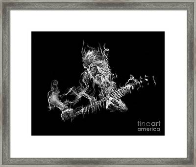 Willie - Up In Smoke Framed Print