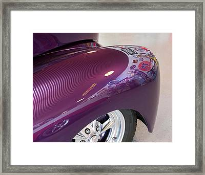 Framed Print featuring the photograph Willy's Fender by Jeanne May