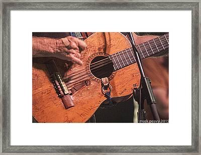 Willie's Guitar Framed Print