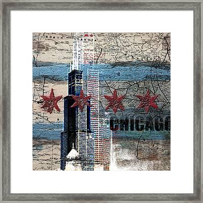 Willis Tower 208 1 Framed Print by Mawra Tahreem