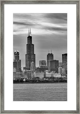 Willis Tower Framed Print by Donald Schwartz