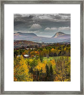 Willoughby Gap Late Fall Framed Print