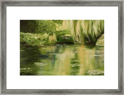 Willow At Monet Framed Print by Lisa Konkol