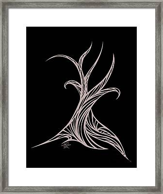 Willow Curve Framed Print