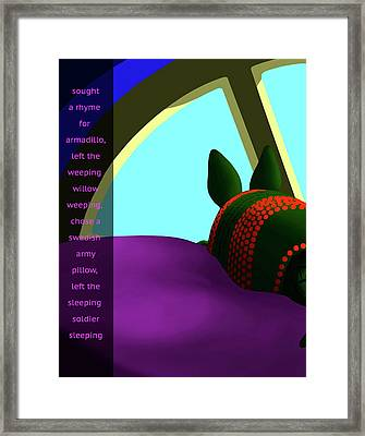 Willow Pillow Armadillo Framed Print