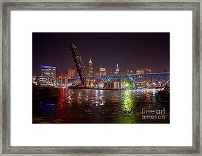 Willow Rd Bridge View  Framed Print by Frank Cramer