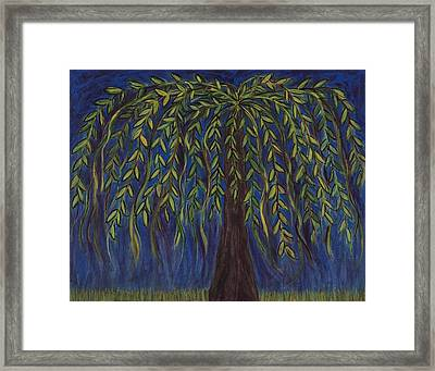 Willow Tree Framed Print by Kristen Fagan