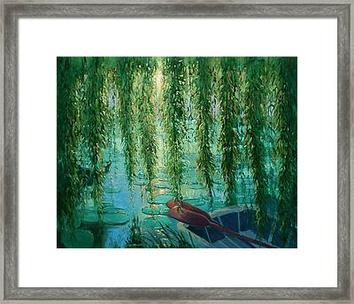 Willow Wall Framed Print by Robert Lewis
