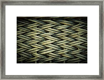 Framed Print featuring the photograph Willow Weave by Les Cunliffe