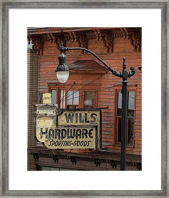 Wills Hardware Framed Print