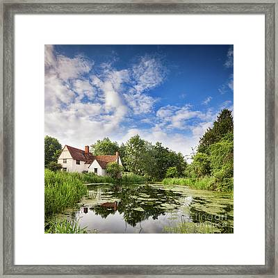 Willy Lott's House Flatford Mill Framed Print by Colin and Linda McKie