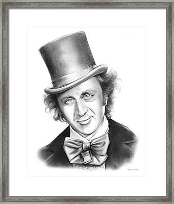 Willy Wonka Framed Print by Greg Joens